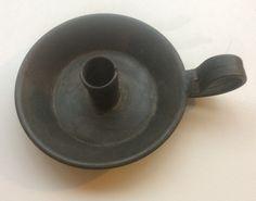 antiikki tinakynttilä, halkaisija 13cm