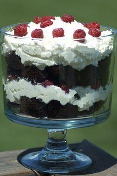 Gluten Free Chocolate Raspberry Trifle @jolynneshane