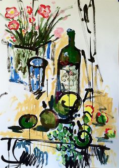 """Wine and Fruits II"""