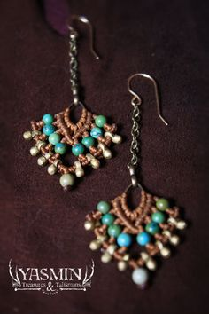 Persian Princess macrame earrings by yasmin