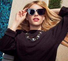Emma Roberts photoshoot for Baublear collection fall 2014