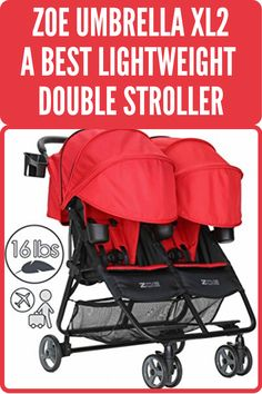 ZOE Umbrella XL2 Double Stroller is the best lightweight stroller with all the facilities. Its quick, compact folding system make it best travel stroller. This best umbrella stroller has all the features like other traditional stroller, 4 panel canopies, two colored full seat comfort pads, and colored harness strap covers. We keep this double stroller in fourth position of our best doubles stroller for toddler and infant list. Best Twin Strollers, Best Travel Stroller, Double Baby Strollers, City Select Stroller, Baby Jogger City Select, Double Stroller For Toddlers, Double Stroller Reviews, Best Double Stroller, Best Lightweight Stroller