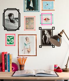 Washi tape frames... Removable and super cute!