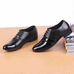 Men Black Pointed Toe Lace Up Color Match Formal Office Shoes Online Newchic