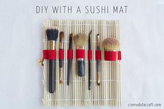 DIY: no-sew makeup brush travel roll