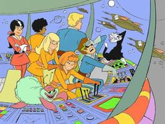 I always thought Josie in Outer space should have had everyone in more distinctively individual outfits, like Alexandra wore. Cartoon Photo, Cartoon Tv, Cartoon Characters, Cartoon Crazy, Josie And The Pussycats, 1970s Cartoons, Classic Cartoons, Hanna Barbera, Jorge Fernandez