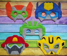 Rescue Bots Inspired Felt Masks Birthday by TreasuredForever