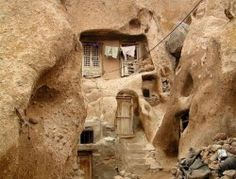 """Matmata, Tunisia: is a small Berber speaking town in southern Tunisia where some of the 2000 residents live in traditional underground """"troglodyte"""" structures. The movie Stars Wars was filmed on location there. Architecture Antique, Vernacular Architecture, Organic Architecture, Pavilion Architecture, Residential Architecture, Contemporary Architecture, Underground Living, Underground Homes, Primitive Homes"""