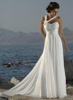 Boho Floral Halter Style Bach Wedding Dress  :: Autumn Collection