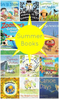 Summer Books  Cheers for a Dozen Ears is a fun counting book that features fruits and vegetables that are most commonly grown in the summer. The illustrations are bright, colorful and the collage art creates a 3D feel. This is a great book to read before heading to the farmers market or when learning about fruits and vegetables grown in the summer.