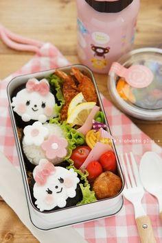 はんぺんでふわふわうさぎちゃんのオベントウ♪(追記アリ) naohaha's obento* cute  bunny bento