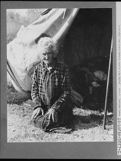 """Grandmother of twenty-two children, from a farm in Oklahoma; eighty years old. Now (during the depression) living in camp on the outskirts of Bakersfield, California. """"If you lose your pluck you lose the most there is in you - all you've got to live with"""" ...I love this lady !!"""