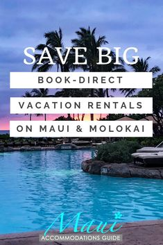 These book-direct vacation rentals and hotels in Maui and Molokai will help you save BIG on your accommodations. This site puts you in touch with the owners to book condos, B&Bs, hotels, and more. Maui Vacation Rentals, Hawaii Vacation, Maui Hawaii, Maui Honeymoon, Vacations, Best Hotels In Maui, Best Beaches In Maui, Condos In Maui, Bed And Breakfast Maui