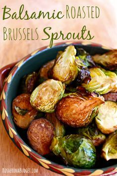 Easy Balsamic Roasted Brussels Sprouts. #vegetables #healthy