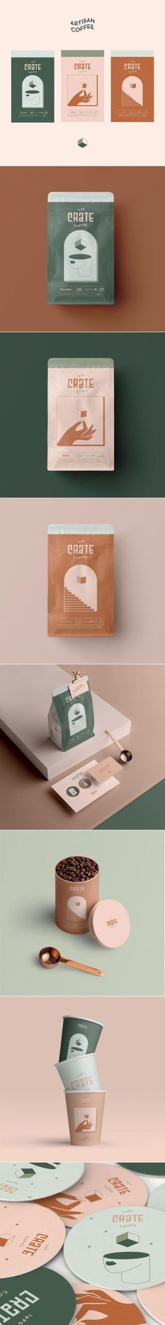 Crate Coffee artisan coffee brand and packaging by xhbt_branding - Modern Collateral Design, Corporate Design, Graphic Design Typography, Identity Design, Corporate Branding, Packaging Box Design, Brand Packaging, Product Packaging, Package Design