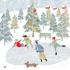 Skating on Christmas Day | Louise Cunningham