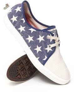 8de774375bf824 Converse Unisex Riff Canvas Blue White Sneaker - 9.5 Men - 11.5 Women -  Converse