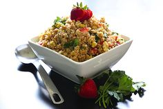 #GlutenFree Toasted Quinoa Salad by @Halle Cottis @ Whole Lifestyle Nutrition