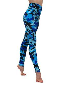 CAMOUFLAGE SKY printed yoga legging - women's hot yoga wear - dancewear - pilates - workout wear- fitness wear