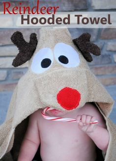 """Ho Ho"" Christmas Hand Towel by Crazy Little Projects"