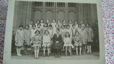 Vintage French school picture from 1931 by hastearsofcloth on Etsy, $8.00