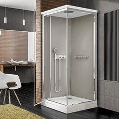 Une cabine de douche parfaite pour les petites salles de bains ! #deco #design