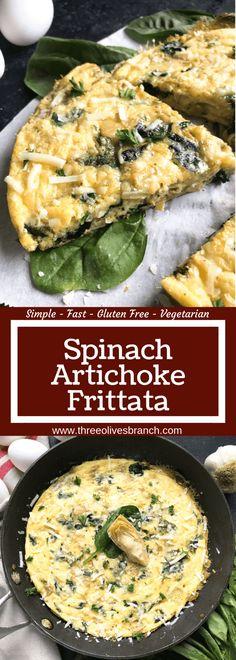 Vegetarian Frittata, Healthy Frittata, Spinach Frittata, Breakfast Frittata, Frittata Recipes, Vegetarian Recipes, Healthy Recipes, Vegetarian Brunch, Vegetarian