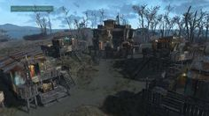 Post with 12794 views. Fallout 4 non-mod settlements Fallout Mods, Fallout 4 Settlement Ideas, Base Building, Slg, Mode Inspiration, Abandoned Places, Beautiful World, New York Skyline, Funny Jokes