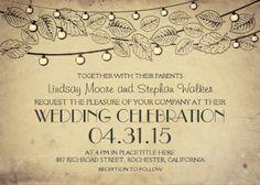 Ornate Rustic Vintage Wedding Celebration Invitations. #vintage_wedding