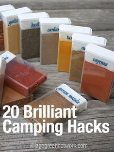 20 Brilliant Camping Hacks -- tricks and tips to make this year's camping trips . - 20 Brilliant Camping Hacks — tricks and tips to make this year's camping trips easier and more - Camping And Hiking, Camping Survival, Camping Ideas, Camping Hacks, Camping Am See, Solo Camping, Camping Glamping, Camping Checklist, Family Camping