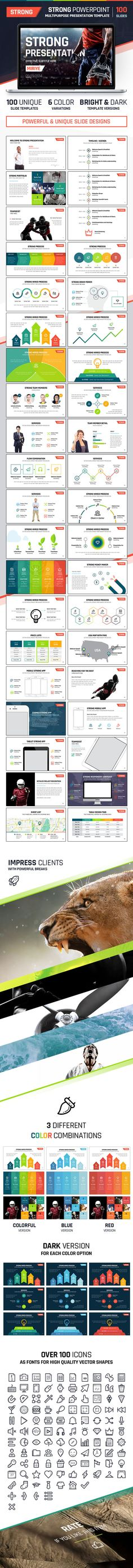 Strong #PowerPoint #Presentation Template