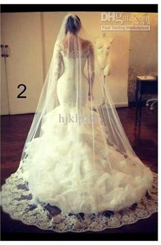 Discount Beautiful Sexy V-Neck Lace Long Sleeve Applique Beaded Mermaid Wedding Dresses Online with $190.0/Piece | DHgate