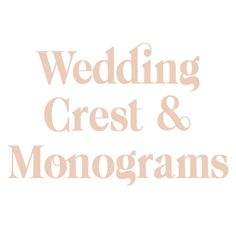Crests, Monograms, Wedding, Mariage, Family Crest, Weddings, Marriage, Monogram, Casamento