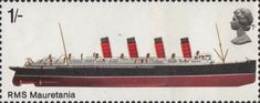 British Ships 1s Stamp (1969) Mauretania I