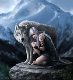 Protector by Ironshod.deviantart.com on @deviantART Omygosh! I am in love with this :) So amazingly beautiful  a picture can speak a million words! Wish that girl were me!