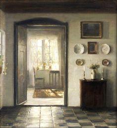 Carl Vilhelm Holsøe (1863-1935) - la sala llena de sol,
