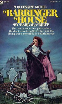 Vintage Gothic Romance Books Classics Paperback Novels 1960's 1970's Women running from houses, heroines in peril castles moors
