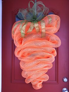 LARGE  Carrot Wreath Easter Wreath  Spring by FromTheCoast2TheCity, $60.00