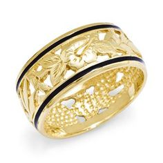 Hawaiian Heirloom Jewelry in 14K Yellow Gold.