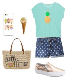 Hello, Summer! by balletlover11 on Polyvore featuring polyvore, Majestic Filatures, Vans, Straw Studios, Lee Renee, fashion, style and clothing