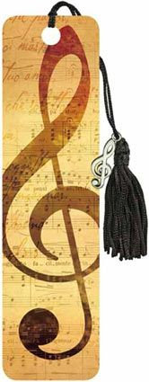 Music - Beaded Bookmark