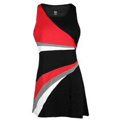 TAIL Women`s Pretty Tough Delicia Tennis Dress Black ($76) ❤ liked on Polyvore