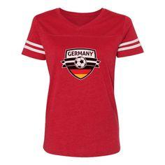 ba84f9c4376 Germany Soccer Team Deutschland Fans Women Football Jersey T-Shirt