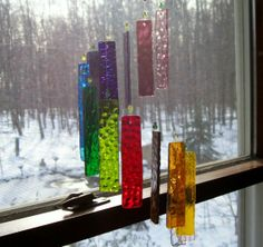stained glass wind chimes plans | Stained Glass Wind Chimes, A Bird Feeder by Day, A Candle Holder by ...
