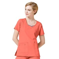 8488ac6b242 WonderWink Four-Stretch Curve-Centric Fashion Top by WonderWink Womens  Scrubs