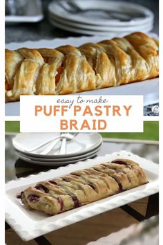 Easy Puff Pastry Braid - This easy to make Puff Pastry Braid will make you look like a professional pastry chef. Fruit or ja - Easy Pastry Recipes, Puff Pastry Desserts, Jam Recipes, Dessert Recipes, Cooking Recipes, Drink Recipes, Breakfast Puff Pastry, Cream Cheese Puff Pastry, Giada De Laurentiis