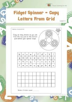 In the Fidget Spinner - Copy Letters From Grid worksheets the student must copy as many letters as they can from the top box to the bottom box before 1st Grade Writing, First Grade Classroom, Classroom Fun, Learning For Life, Visual Learning, Learning Activities, Circle Game, Islam For Kids, Phonics Words