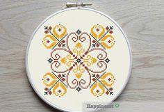 modern cross stitch pattern geometric potugese par Happinesst