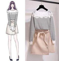 Pin by joan tiamzon on women's fashion модный дизайн, модный дизайн эс Fashion Design Drawings, Fashion Sketches, Drawing Fashion, Cute Fashion, Teen Fashion, Womens Fashion, Korea Fashion, Asian Fashion, Dress Sketches