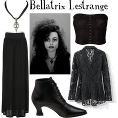 Bellatrix Lestrange, created by companionclothes on Polyvore